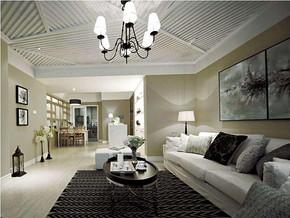 现代风格客厅吊顶吊灯装修效果图