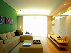 現代簡約風格小戶型客廳電視背景裝修效果圖
