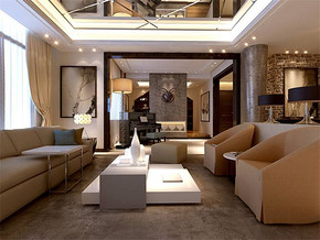 現代風格客廳家居裝修效果圖