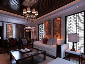 大戶型中式風格客廳裝修效果圖