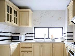 簡歐風格廚房櫥柜裝修效果圖