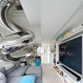 后現代風格別墅客廳裝修效果圖