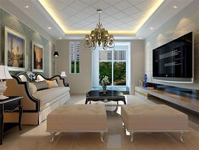 新古典客廳裝修效果圖