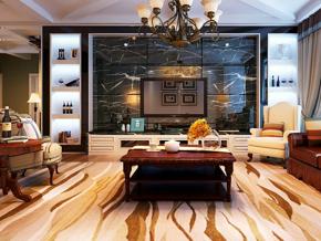 美式風格客廳電視背景墻裝修效果圖
