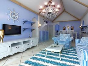 地中海风格客厅装修设计效果图