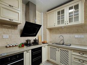 白色简约时尚厨房装修效果图