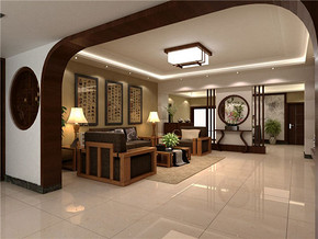 中式風格客廳裝修效果圖