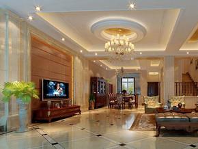 歐式風格復式客廳裝修效果圖