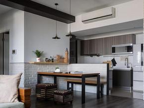 现代简约风格餐厅厨房装修效果图