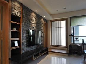 日式风格客厅电视墙装修效果图