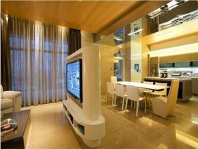 现代古典风格客餐厅装修效果图