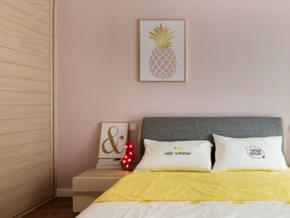 粉色溫馨浪漫簡約風格兒童房裝修效果圖