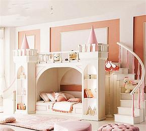 歐式風格小公主兒童房裝修效果圖