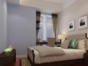 简洁干净卧室装修效果图