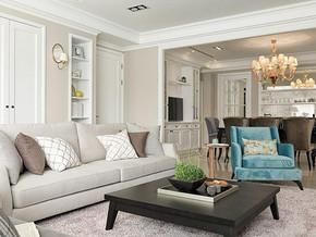 歐式風格客廳裝修設計效果圖