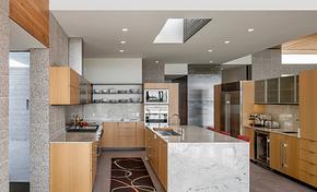 現代風格別墅廚房整體櫥柜裝修效果圖