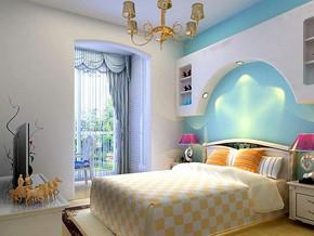 地中海风格卧室阳台装修设计效果图