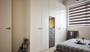 北欧风格二居卧室衣柜装修效果图