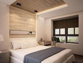 现代风格卧室吊顶装修设计效果图