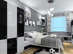 現代風格臥室衣柜裝修效果圖