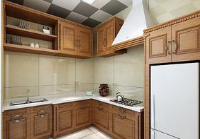 美式風格整體櫥柜實木櫥柜裝修效果圖