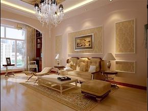 简欧客厅沙发背景墙装修效果图