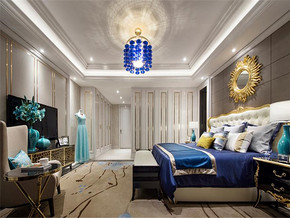 唯美现代欧式三室装修效果图
