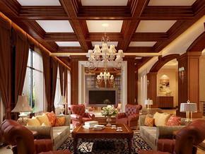 欧式风格客厅吊顶装修设计效果图