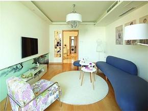 現代簡約風格小客廳沙發裝修效果圖