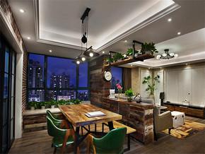 韩式田园风格三室装修效果图