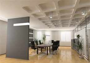 现代风格公司会议室装修效果图