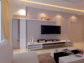 现代客厅电视背景墙室内飘窗设计效果图