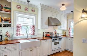 简约风格厨房纯白橱柜装修效果图