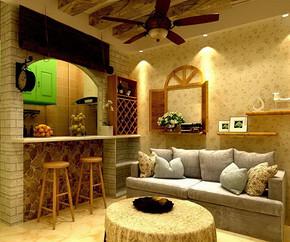简约风格两室一厅效果图