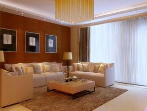现代简约风格客厅沙发背景装修效果图