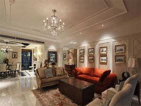 現代簡約風格小戶型客廳吊棚裝修效果圖
