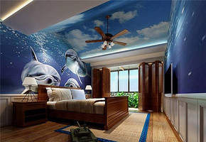 欧式风格阁楼卧室装修效果图