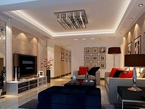 現代風格客廳吊頂吊燈裝修效果圖