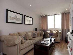 美式风格客厅沙发背景墙装修效果图