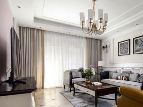 混搭時尚精美客廳設計裝修效果圖