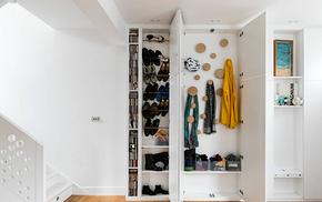 現代創意玄關定制衣柜裝修效果圖