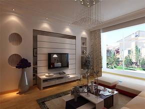 现代客厅房间隔断窗户设计图