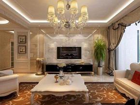 歐式客廳裝修設計效果圖