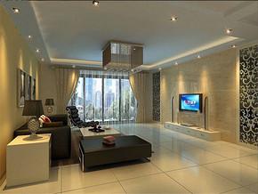 现代风格客厅电视墙装修效果图