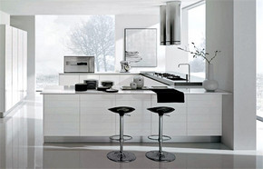 簡約風格別墅開放式廚房裝修效果圖