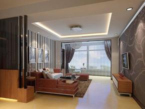現代風格客廳吊燈吊頂裝修效果圖