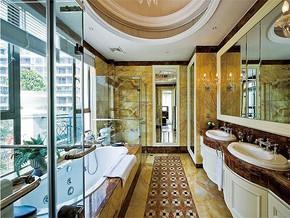 现代古典风格洗浴室装修效果图