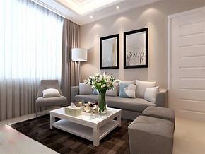 現代簡約風格小戶型客廳裝飾設計片