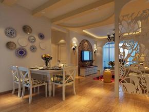 田园风格餐厅客厅装修效果图