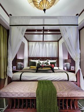 东南亚民族复古风格卧室装修效果图